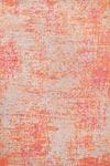 Tapis Reflect motifs corail et orange sur fond gris - 60x120cm. Ligne Pure.