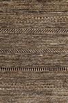 Tapis traditionnel rayures beige et brun foncé - 140x200cm. Ligne Pure.