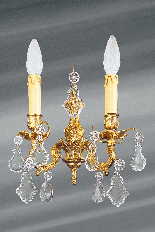 Applique bronze et cristal de bohème Louis XV . Lucien Gau.