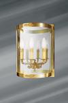 Applique de style Empire trois lumières en bronze massif et verre . Lucien Gau.