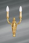 Applique dorée, de style Directoire, en bronze massif, finition or vif. Lucien Gau.