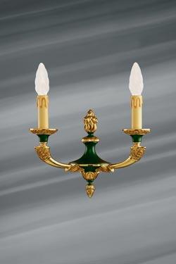 Applique double en bronze massif de style Empire. Lucien Gau.