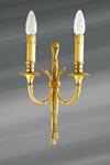 Applique double, style Louis XVI, en bronze massif doré. Lucien Gau.