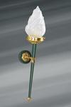 Applique en bronze massif, dorée et verte, de style Directoire. Lucien Gau.