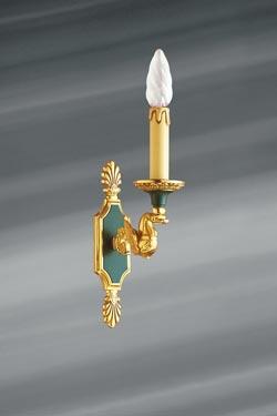 Applique simple en bronze massif de style Empire. Lucien Gau.