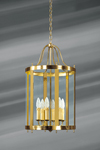 Classic six-light glass and bronze lantern. Lucien Gau.