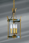 Empire style lantern in solid bronze and glass. Lucien Gau.