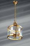 Original lantern, bronze and glass, three lights. Lucien Gau.