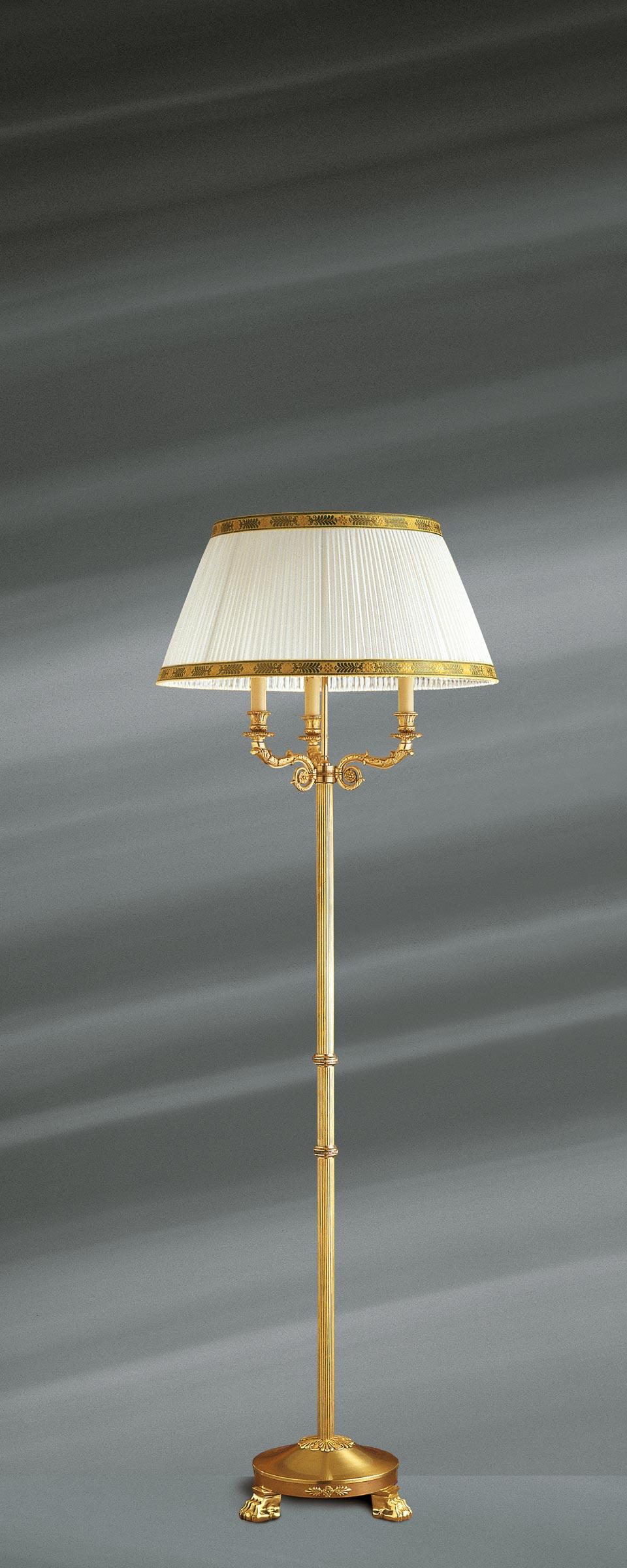Empire Style Solid Bronze Floor Lamp