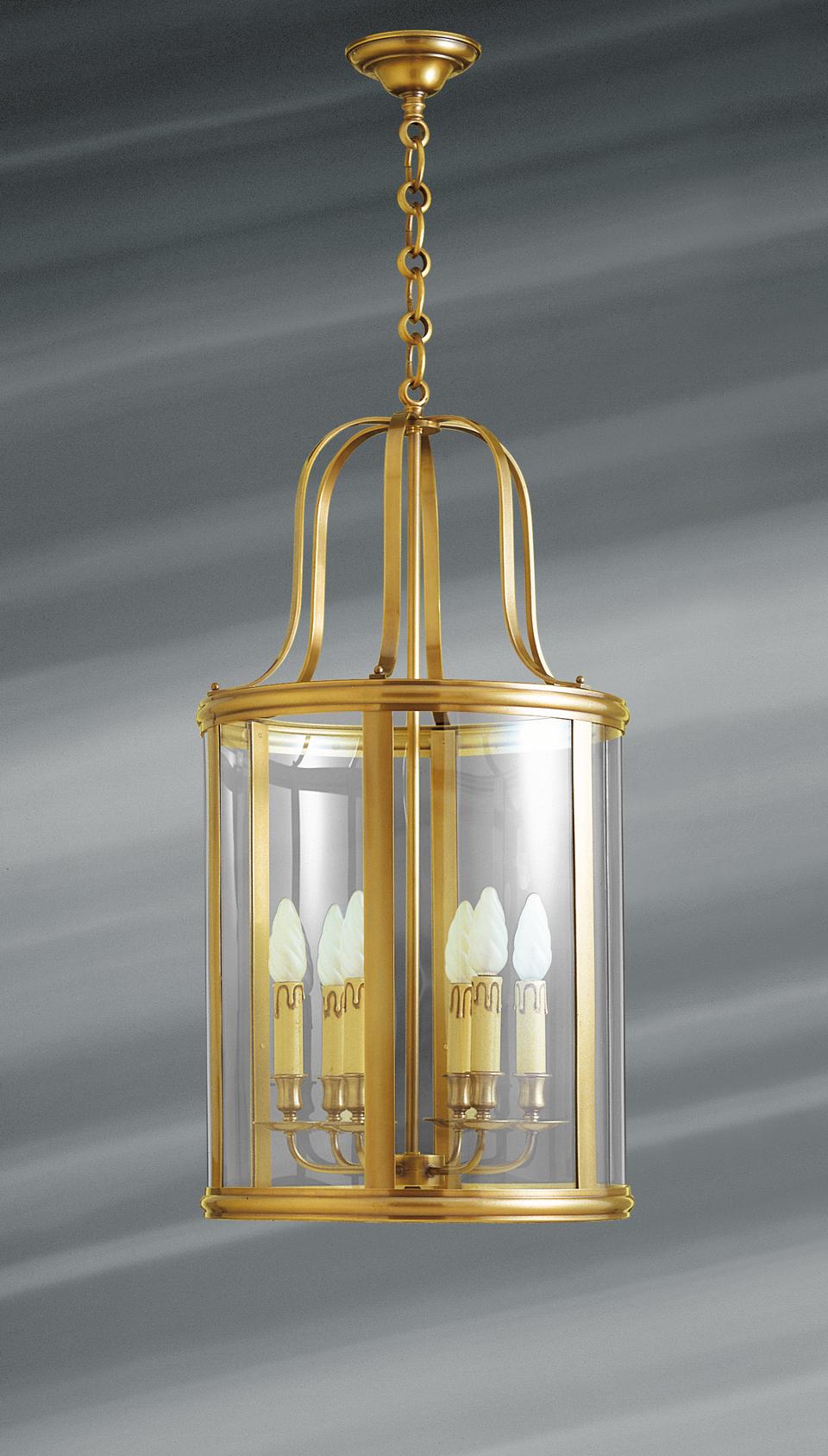 grande lanterne de style classique en bronze massif et. Black Bedroom Furniture Sets. Home Design Ideas