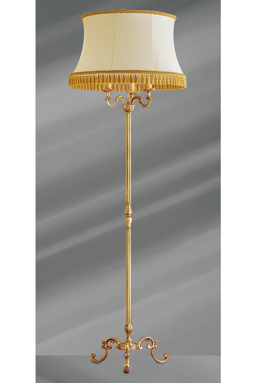 lampadaire dor louis xv sur tr pied lucien gau luminaires classiques de prestige r f 12020232. Black Bedroom Furniture Sets. Home Design Ideas