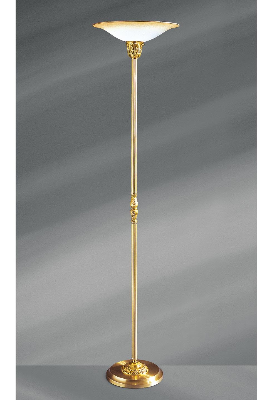 lampadaire louis xv bronze dor et verre d poli forme vasque lucien gau luminaires classiques. Black Bedroom Furniture Sets. Home Design Ideas