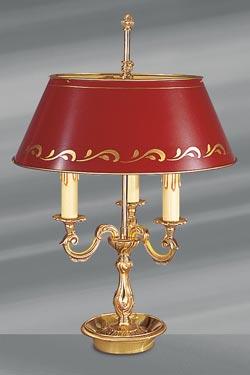Lampe bouillote dorée Louis XV. Lucien Gau.