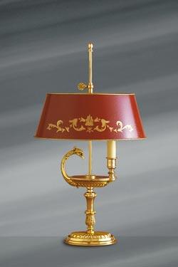 Lampe de style Directoire en bronze massif doré, or vif . Lucien Gau.