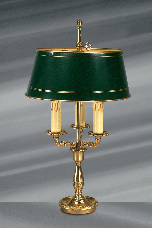 Lampe de Style Empire en bronze massif, trois lumières. Lucien Gau.