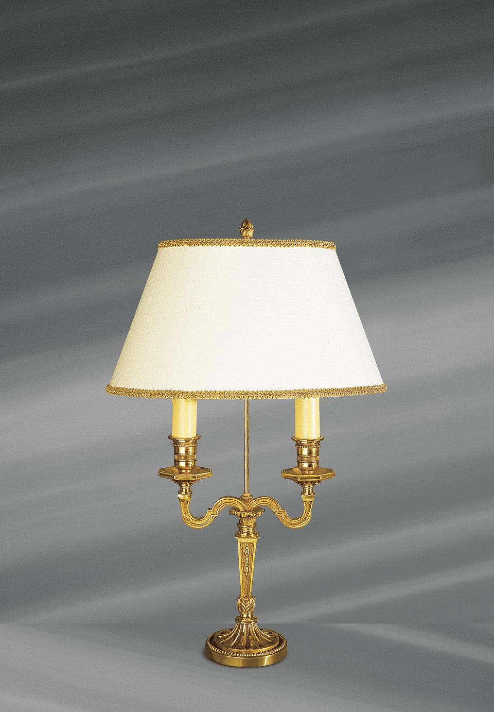 Lampe de style Louis XVI en bronze massif doré avec abat-jour ovale, blanc, lisse et galonné. Lucien Gau.
