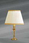 Lampe dorée Louis XVI, bronze massif, décor classique. Lucien Gau.