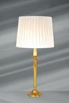Lampe dorée Louis XVI, bronze massif, pied fuselé. Lucien Gau.