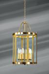 Lanterne en verre et bronze massif de style classique à six  lumières . Lucien Gau.