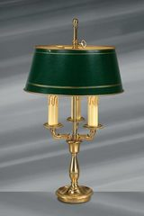 Empire Style Lamp in Solid Bronze, Three Lights. Lucien Gau.
