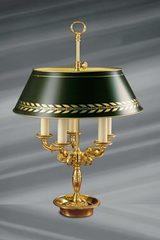 Empire style solid bronze lamp, five lights. Lucien Gau.