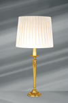 Golden lamp Louis XVI, solid bronze, tapered foot. Lucien Gau.