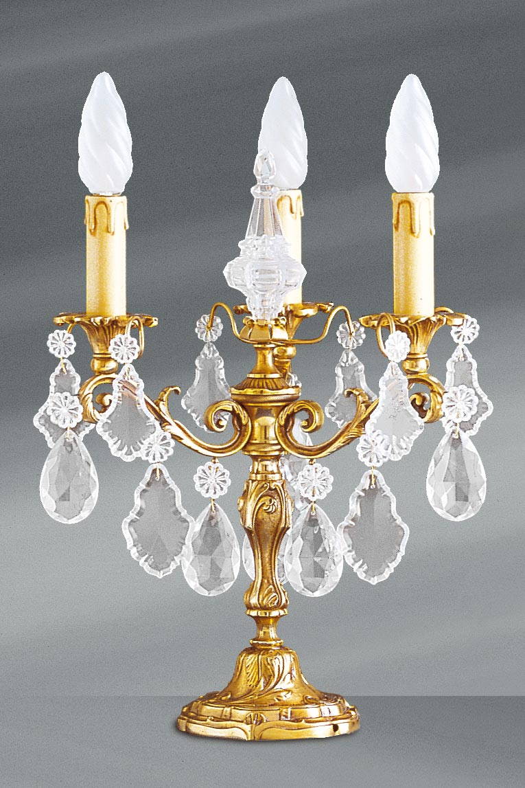 Louis XV candlestick table lamp lamp with five lights. Lucien Gau.