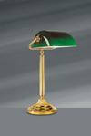 Louis XVI style desk lamp in bright gold bronze. Lucien Gau.