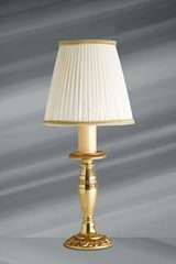 Small Empire Style Solid Bronze Lamp, Ivory Pleated Shade. Lucien Gau.