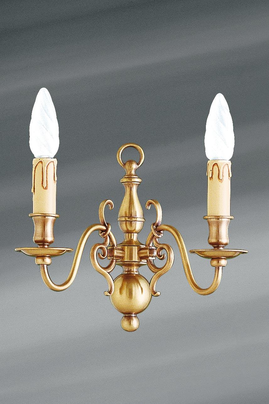 applique laiton style hollandais deux lumi res lucien gau luminaires classiques de prestige. Black Bedroom Furniture Sets. Home Design Ideas