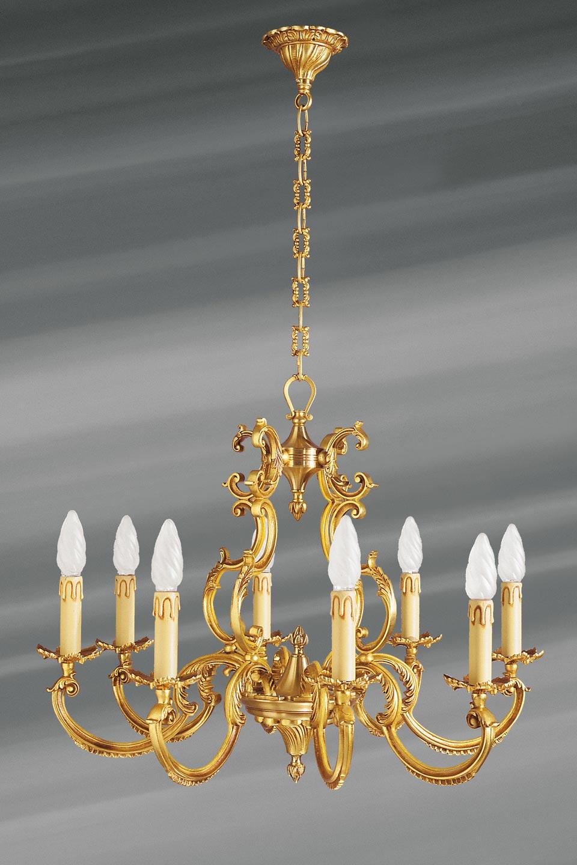 lustre louis xv en bronze dor huit lumi res lucien gau luminaires classiques de prestige. Black Bedroom Furniture Sets. Home Design Ideas