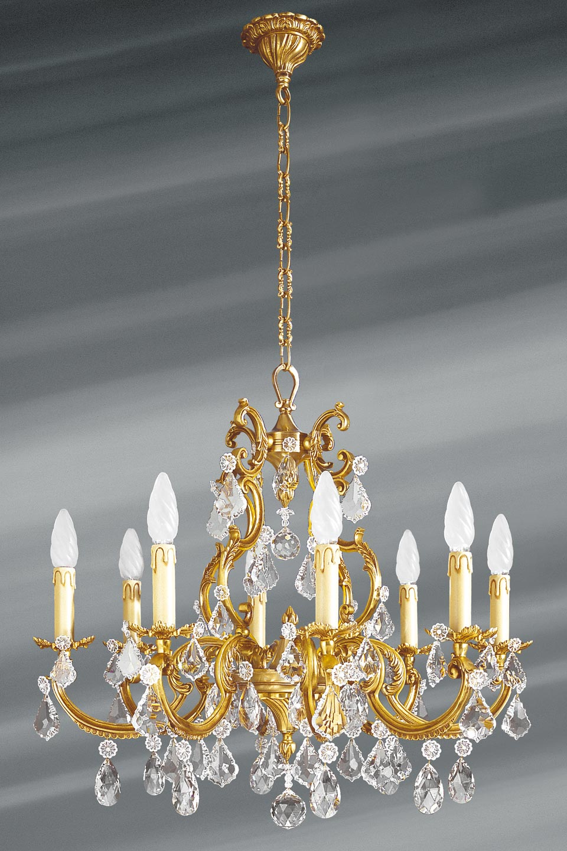 lustre pampilles cristal de boh me bronze patin vieil. Black Bedroom Furniture Sets. Home Design Ideas