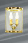 Petite applique de style classique en verre cylindrique et bronze massif. Lucien Gau.