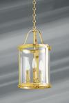 Petite lanterne de style classique en bronze massif trois lumières . Lucien Gau.
