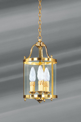 Classic style wall lamp in polished gilt bronze surrounded and topped with glass. Lucien Gau.