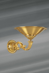 Golden wall lamp in the shape of basin, Louis XVI style solid bronze. Lucien Gau.