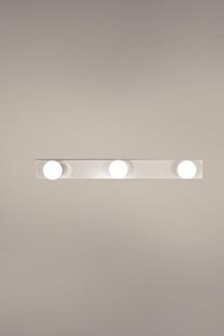 2160's applique 3 lumières en acier laqué blanc. Luz Difusion.
