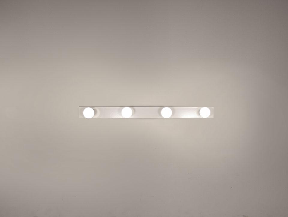 Applique blanche minimaliste 4 ampoules 2160
