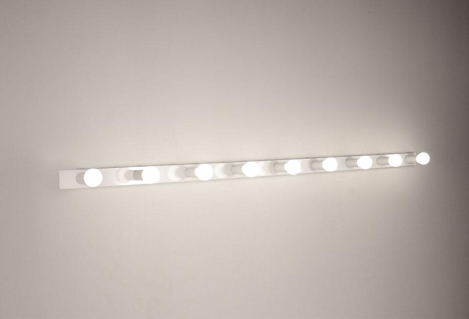 Applique 9 lumières en acier blanc laqué 2160