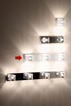 Kendo W3 applique 3 lumières blanche et chromée. Luz Difusion.