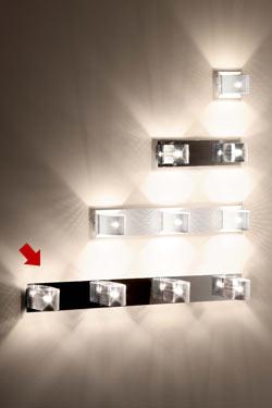 Kendo W4 applique 4 lumières chromée. Luz Difusion.