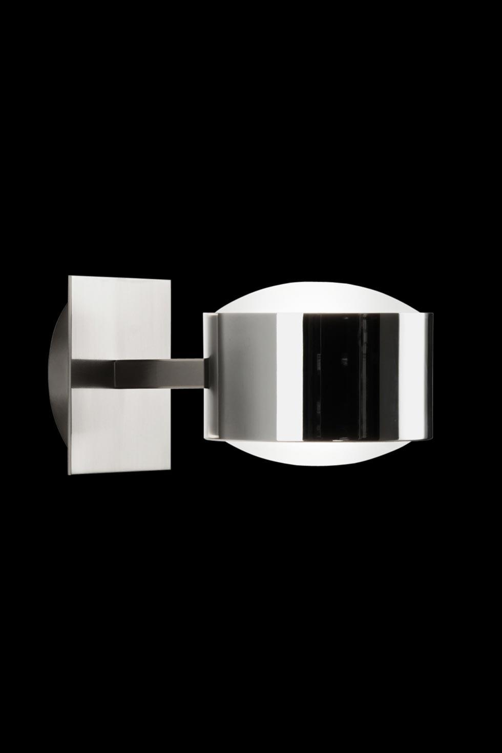 City W1 applique simple nickel satiné et chromé. Luz Difusion.