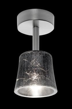 Mauro C1 plafonnier en verre décoré. Luz Difusion.