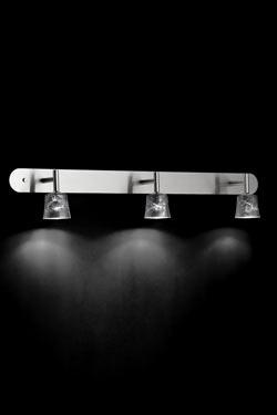 Mauro W3 applique triple en verre décoré. Luz Difusion.