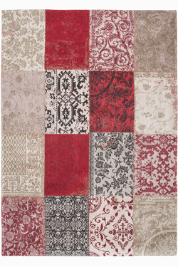 Tapis Patchwork chenille rouge 60X90. MA Salgueiro.