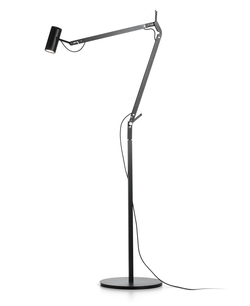 lampadaire design led polo noir r f 17020316. Black Bedroom Furniture Sets. Home Design Ideas