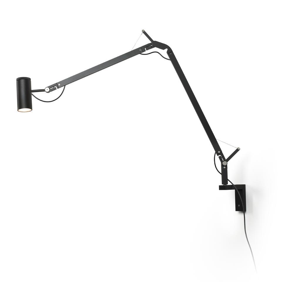 Lampe De Bureau Design Noire Fixation Murale Polo Ref 17020326