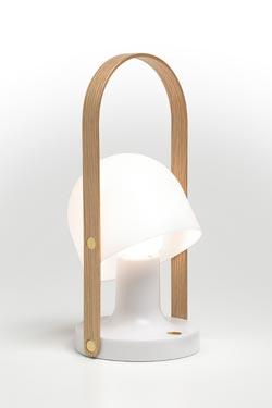 Lampe nomade à LED blanche Follow Me . Marset.
