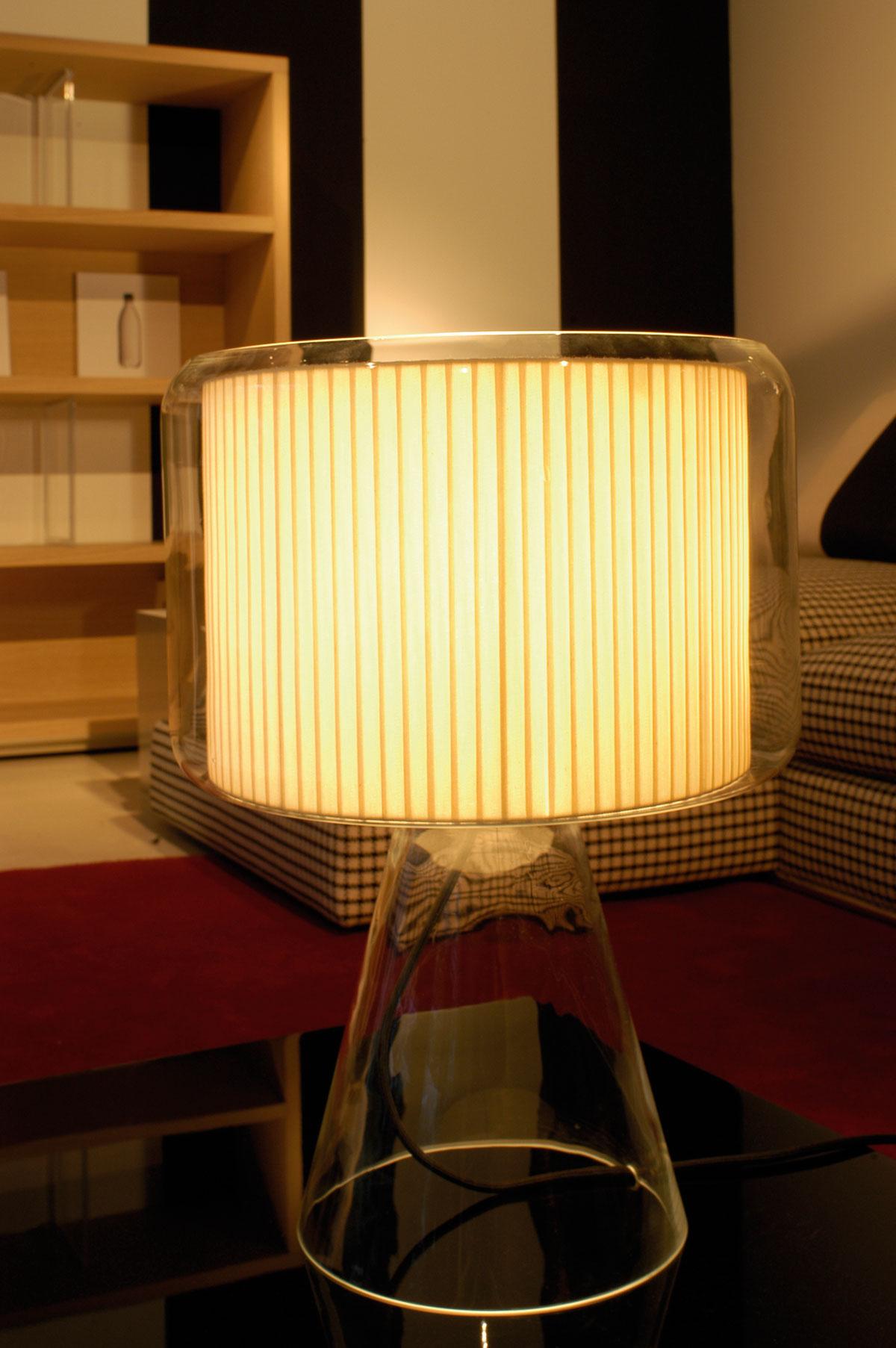 Mercer lampe ruban beige GM. Marset.