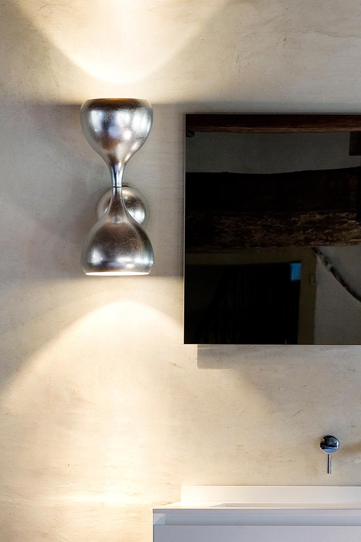 Applique Blob en métal décoré à la feuille d